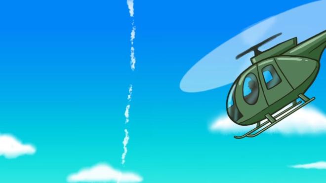 Thomas' YouTube World Tourのアメリカのヘリコプター