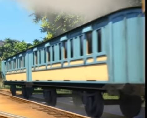 TV版第22シーズンのインドの支線客車(青銅色)