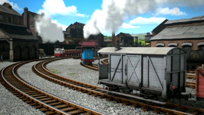 TV版第18シーズンのウェルシュプール&スランフェア軽便鉄道のブレーキ車