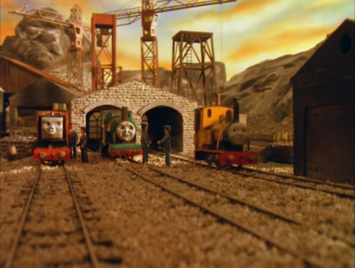 TV版第5シーズンのウルフステッド採石場の機関庫(狭軌用)