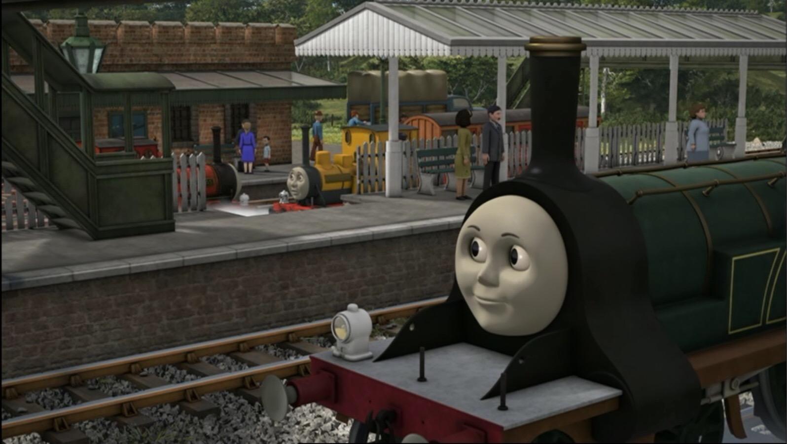 レニアスとダンカンの会話を耳にするエミリー