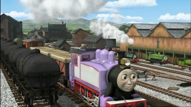 TV版第18シーズンのオイルタンク車(顔無し)