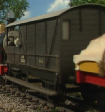 TV版第8シーズンのグレート・ウェスタン鉄道の16トンブレーキ車