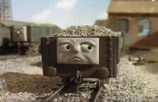 TV版第5シーズンのショートホイールベースの無蓋貨車