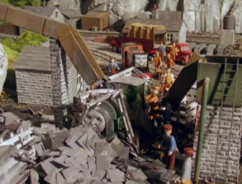 第4シーズンのスカーロイスレート採石場の作業員
