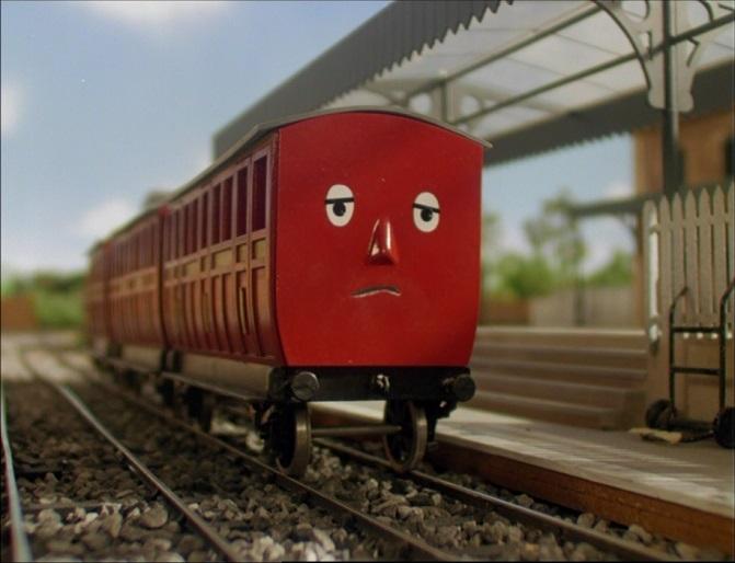 TV版第4シーズンの赤い客車