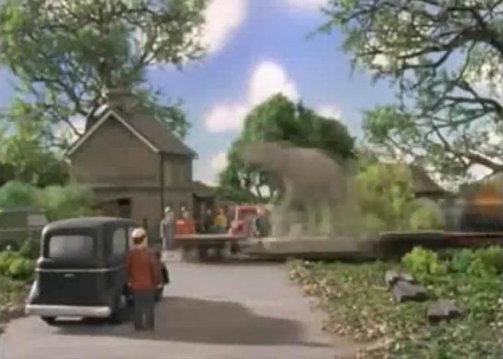 TV版第7シーズンのスカーロイ鉄道の踏切