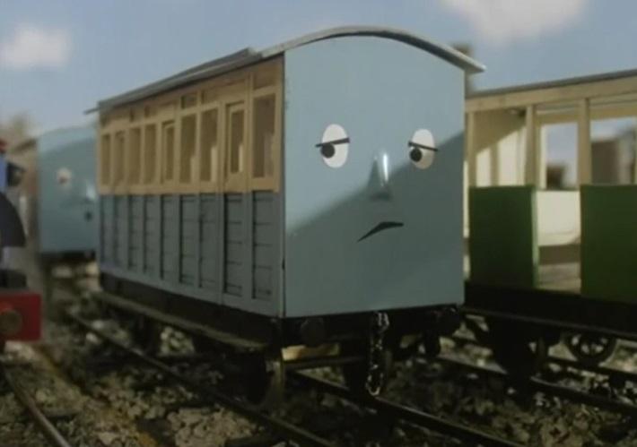 TV版第4シーズンのこうざん鉄道の青い客車