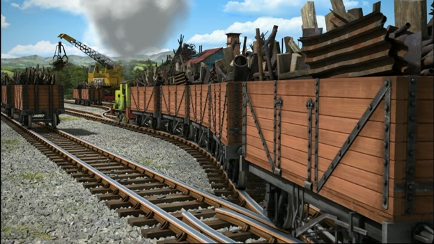 TV版第18シーズンのスクラップ運搬貨車