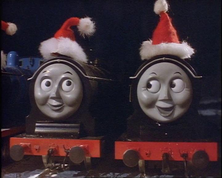 サンタクロースの帽子を被ったダグラス