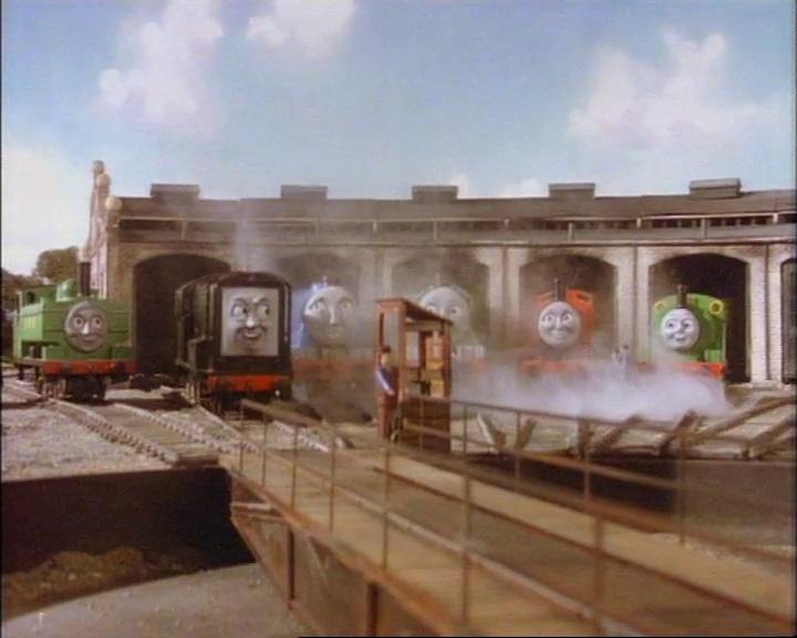 TV版第2シーズンでディーゼルが入庫しているティッドマス機関庫