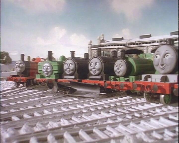 TV版第2シーズンでドナルドとダグラスが入庫しているティッドマス機関庫
