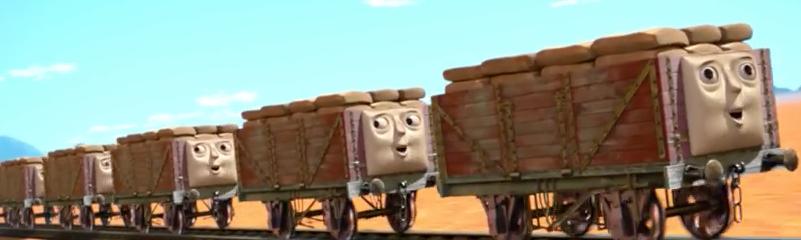 TV版長編第14作のコーヒー豆の貨車