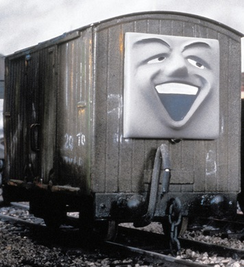 TV版第5シーズンのリントン・アンド・バーンステイプル鉄道の魚の有蓋貨車