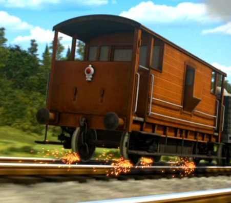 TV版第18シーズンのロンドン・ミッドランド・アンド・スコティッシュ鉄道の20トンブレーキ車