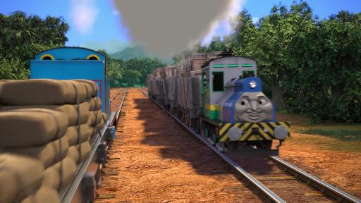 長編第14作のブラジルのタンク機関車