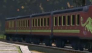 TV版長編第14作の中国の急行客車