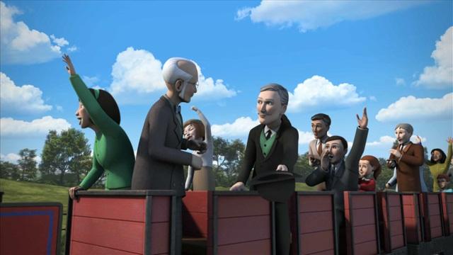 TV版第20シーズンのアールズデール鉄道の乗客