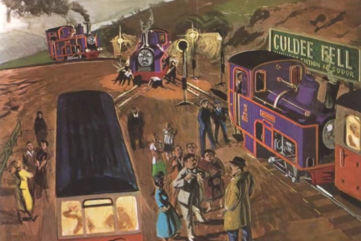 原作第19巻のカルディー・フェル鉄道の乗客