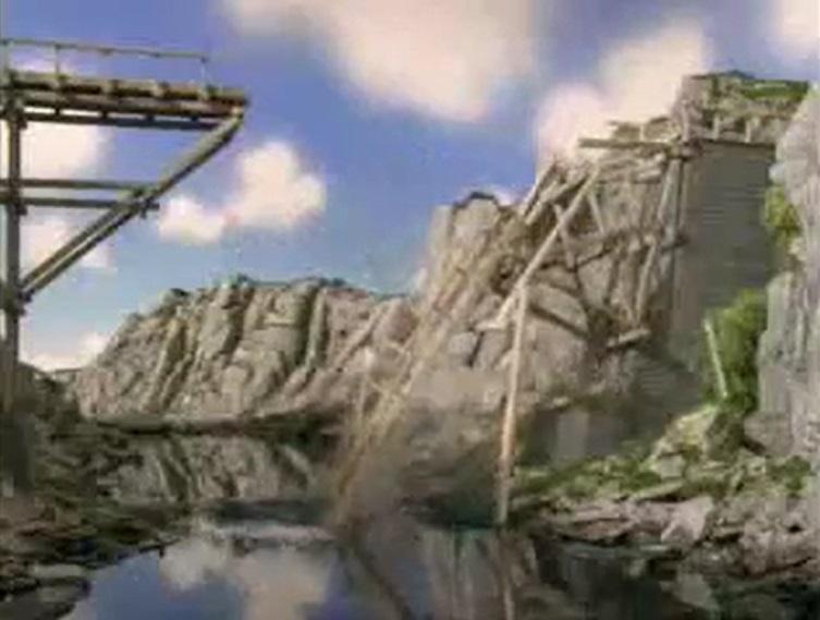 壊れた古い木製の橋
