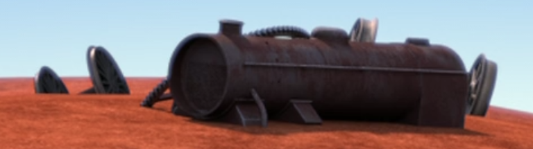TV版長編第14作の小さな機関車のスクラップ