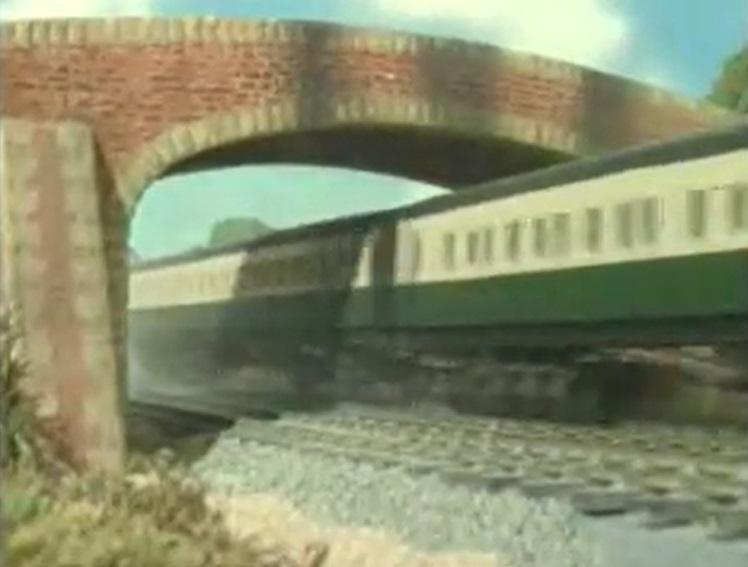 TV版第3シーズンの急行客車(緑)