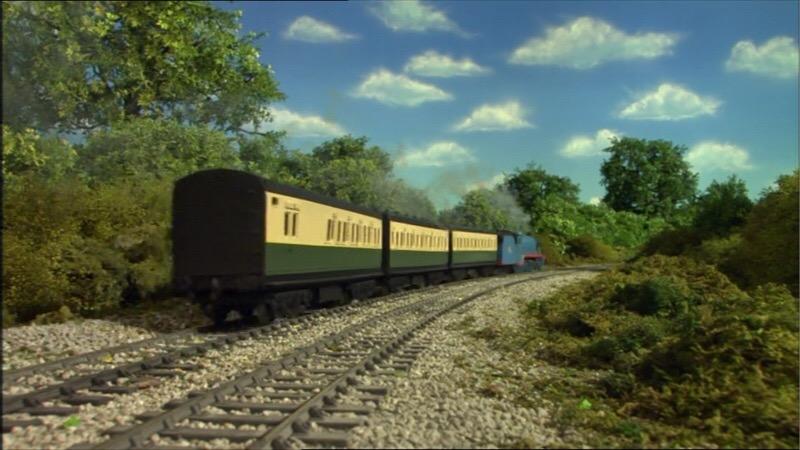 TV版第11シーズンの緑の急行客車