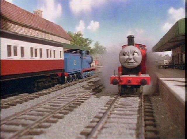 TV版第2シーズンの急行客車(赤)