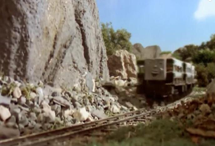 木材を積んだスレート貨車4