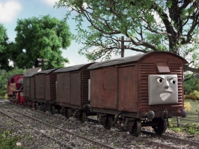 TV版第7シーズンの果物を積んだ有蓋貨車