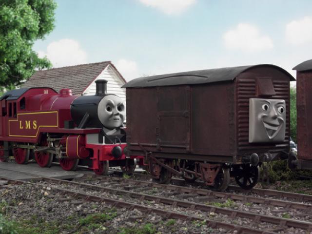 TV版第7シーズンの果物を積んだ有蓋貨車9