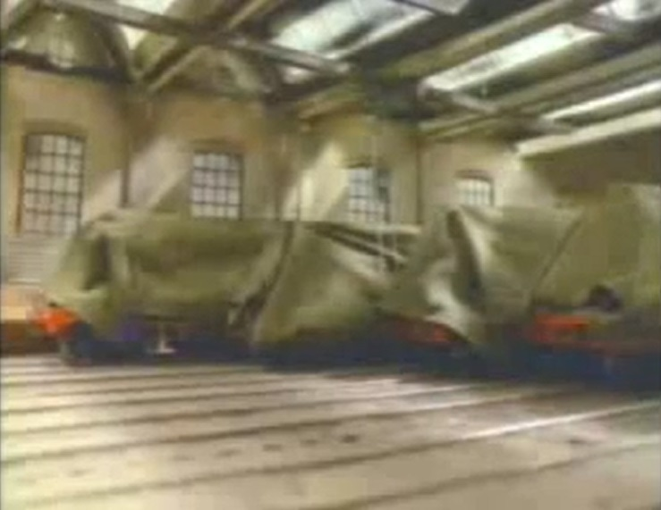 TV版第1シーズンの機関車工場の機関車達