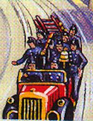 原作第6巻の消防車
