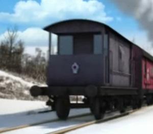 TV版第20シーズンの灰色のイギリス国鉄の20トンブレーキ車2