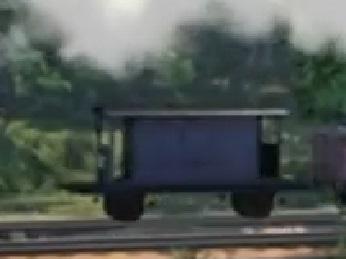 TV版第22シーズンの灰色のイギリス国鉄の20トンブレーキ車