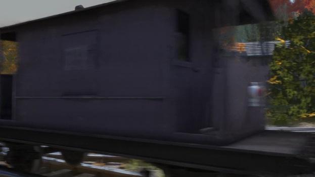 TV版第22シーズンの灰色のイギリス国鉄の20トンブレーキ車2