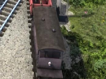 TV版第21シーズンの灰色のイギリス国鉄の20トンブレーキ車