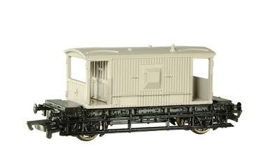 バックマンの灰色のイギリス国鉄の20トンブレーキ車