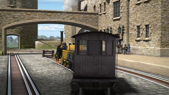 TV版第17シーズンの灰色のイギリス国鉄の20トンブレーキ車