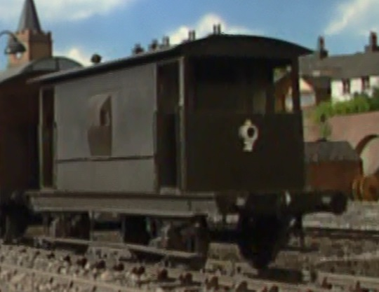 TV版第8シーズンの灰色のイギリス国鉄の20トンブレーキ車