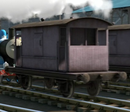 TV版長編第12作の灰色のイギリス国鉄の20トンブレーキ車2