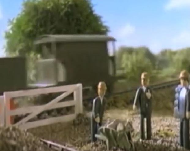 TV版第5シーズンの灰色のイギリス国鉄の20トンブレーキ車3