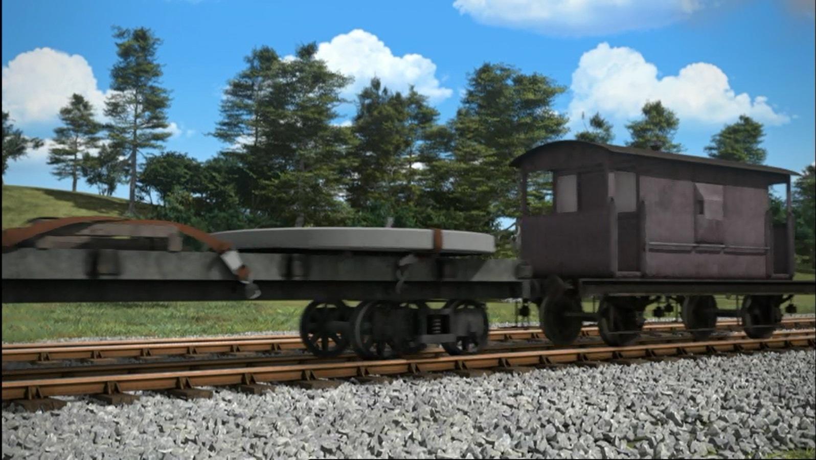 TV版第18シーズンの灰色のイギリス国鉄の20トンブレーキ車2