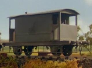 TV版第4シーズンの灰色のイギリス国鉄の20トンブレーキ車10