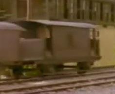 TV版第5シーズンの灰色のイギリス国鉄の20トンブレーキ車