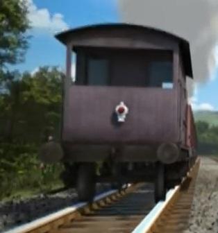 TV版第20シーズンの灰色のイギリス国鉄の20トンブレーキ車