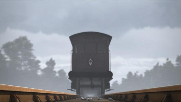 TV版第18シーズンの灰色のイギリス国鉄の20トンブレーキ車