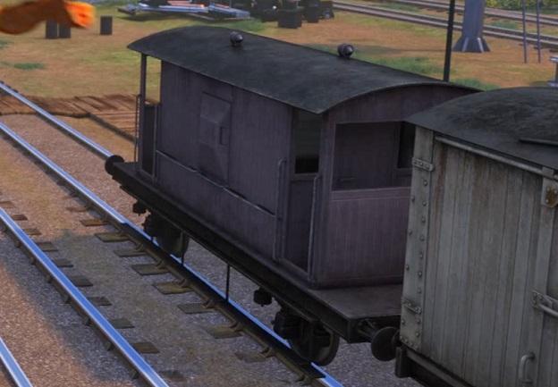 TV版第23シーズンの灰色のイギリス国鉄の20トンブレーキ車