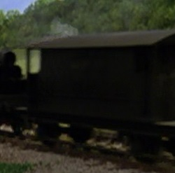 TV版長編第1作の灰色のイギリス国鉄の20トンブレーキ車