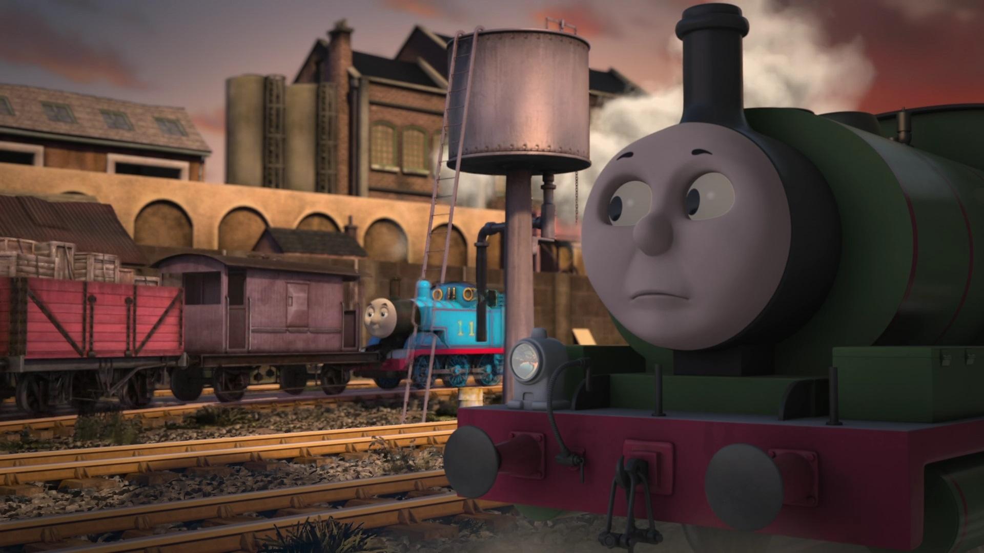 TV版長編第12作の灰色のイギリス国鉄の20トンブレーキ車